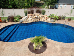 Mountain Lake Series in ground pool from Radiant Pools.