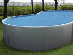 Free form above ground swimming pool.