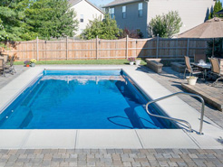 Traditional rectangular in ground pool from Radiant Pools.